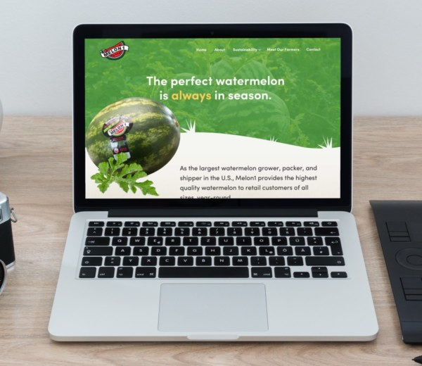 Agriculture and Farm Produce Website Desktop Example