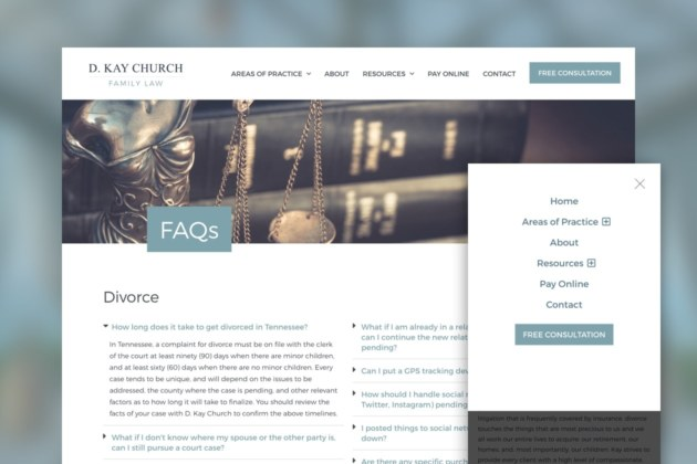 Attorney and Lawyer Website FAQs Example