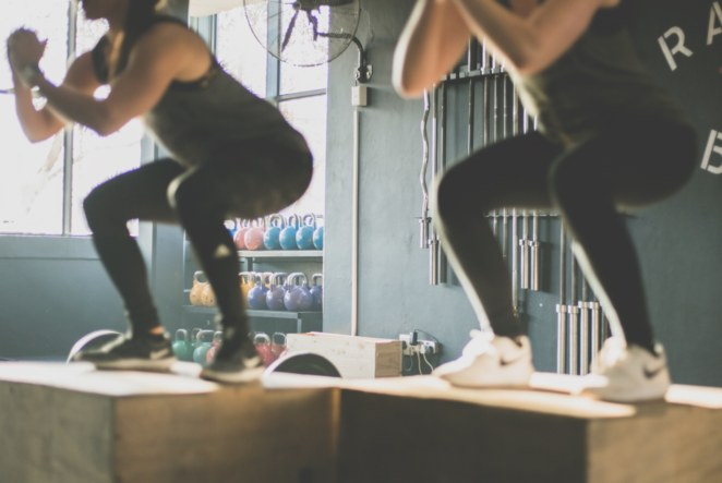 Fitness and Trainer Website - Box Jumps