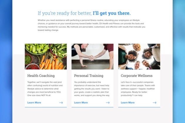 Fitness and Trainer Website Services