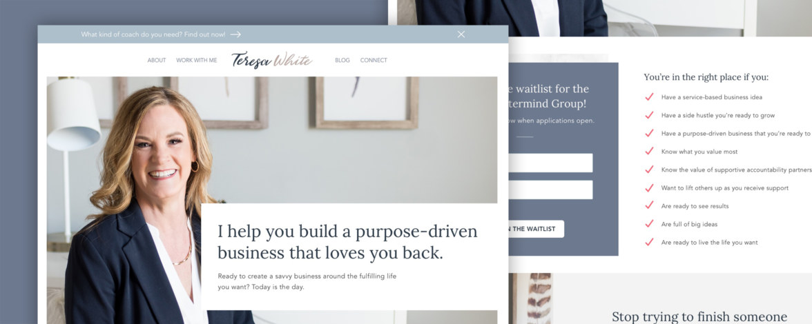 Business Coach Website Homepage