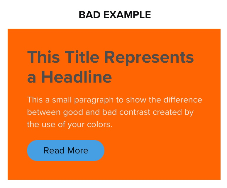 Bad Contrast - Web Design