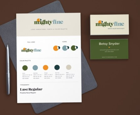 Branding and Identity for Mighty Fine